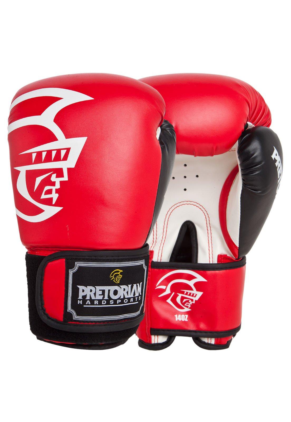 f19282914 Luva de Boxe Pretorian Trainning 16 oz - Vermelho