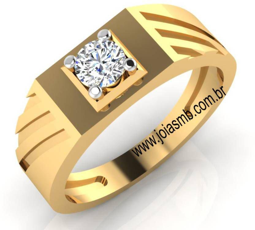 Anel de Ouro Masculino - de Miami para o Brasil - Joias MB 5a9929f232