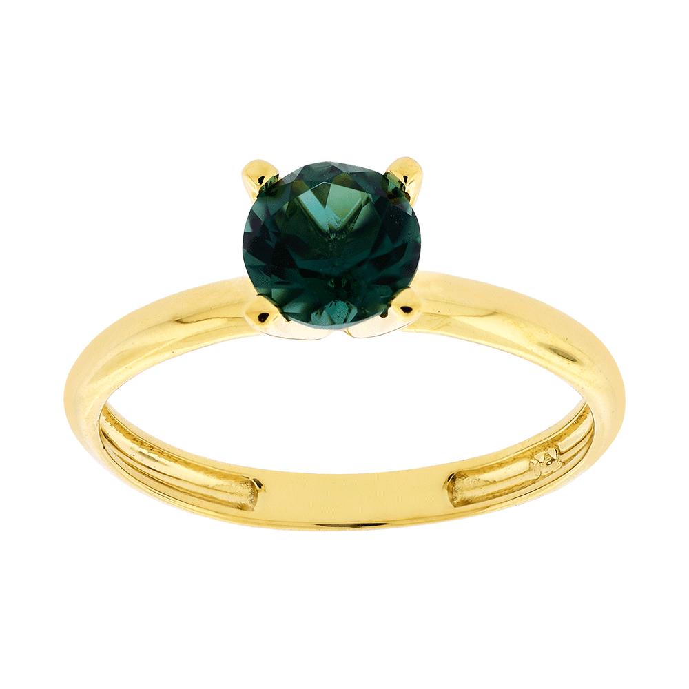 921f0999d Anel Solitário Ouro 18K Pedra de Topázio Verde - MICHELETTI JOIAS