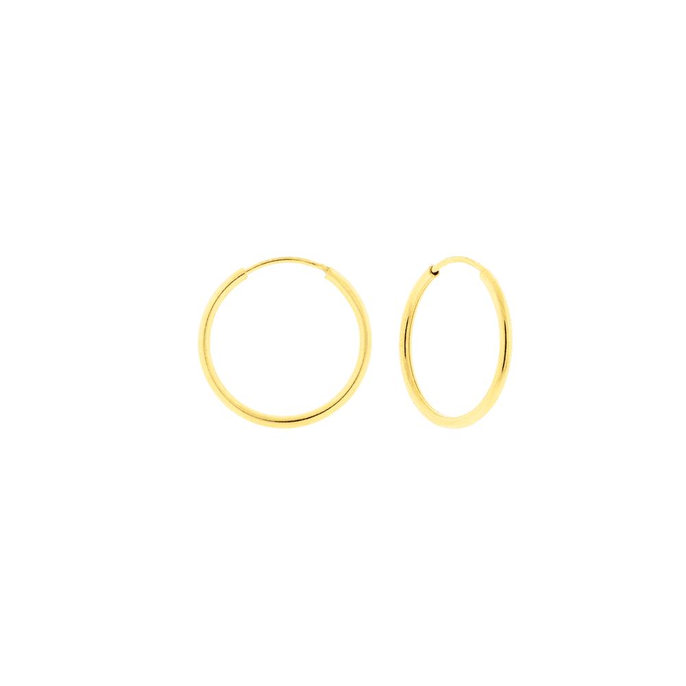 Brinco de Argola Pequeno em Ouro 18K - MICHELETTI JOIAS a32cf213dd