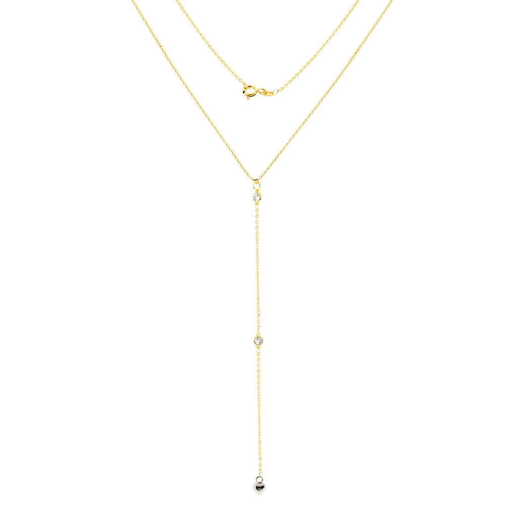 Gargantilha Gravatinha Ouro 18K Coração Branco - MICHELETTI JOIAS 5d3c8942cf