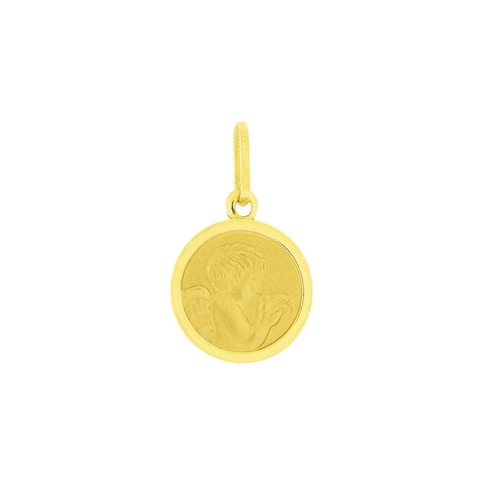 Pingente Ouro 18K Medalha Anjo da Guarda - MICHELETTI JOIAS a65f3cf46c
