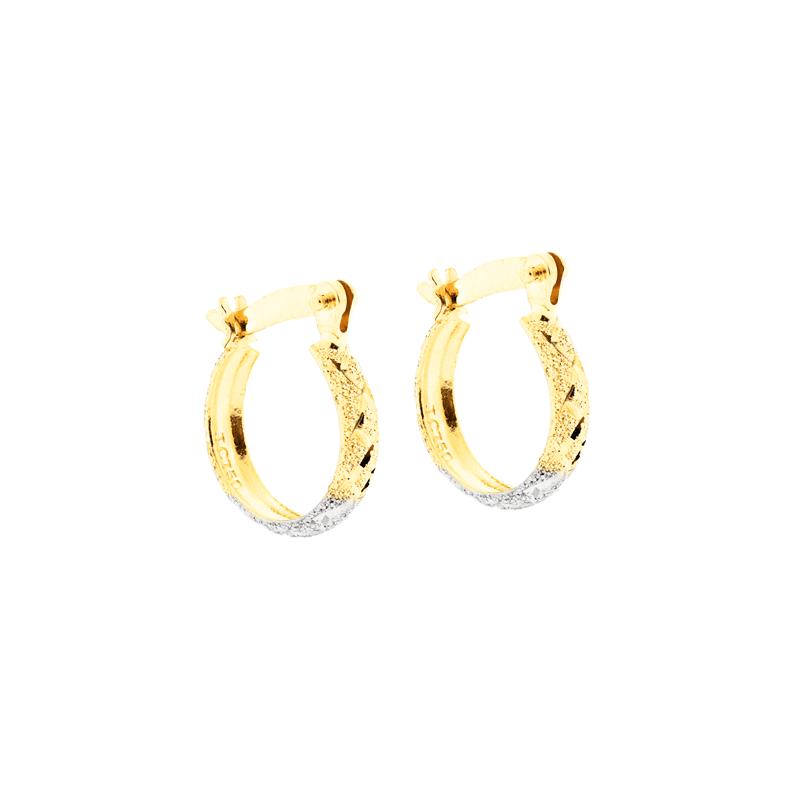 Brinco Argola de Ouro 18K Pequeno 3 Cores - MICHELETTI JOIAS b2eae55417