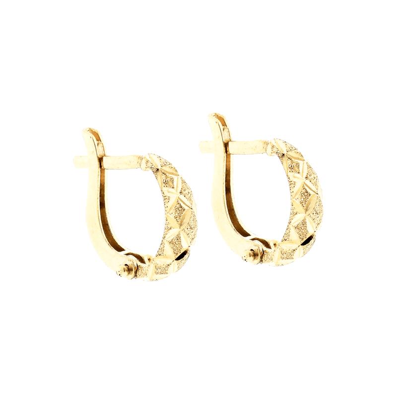 Brinco Argola de Ouro 18K Pequeno Diamantado - MICHELETTI JOIAS 917d350f2a