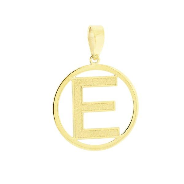 Pingente com Letra E de Ouro 18K - MICHELETTI JOIAS 595cad2a22
