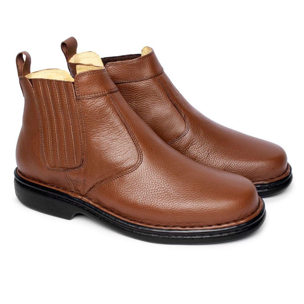 b509a0153 Bota em Couro Masculina - Chocolate | Pé Relax Sapatos Confortáveis