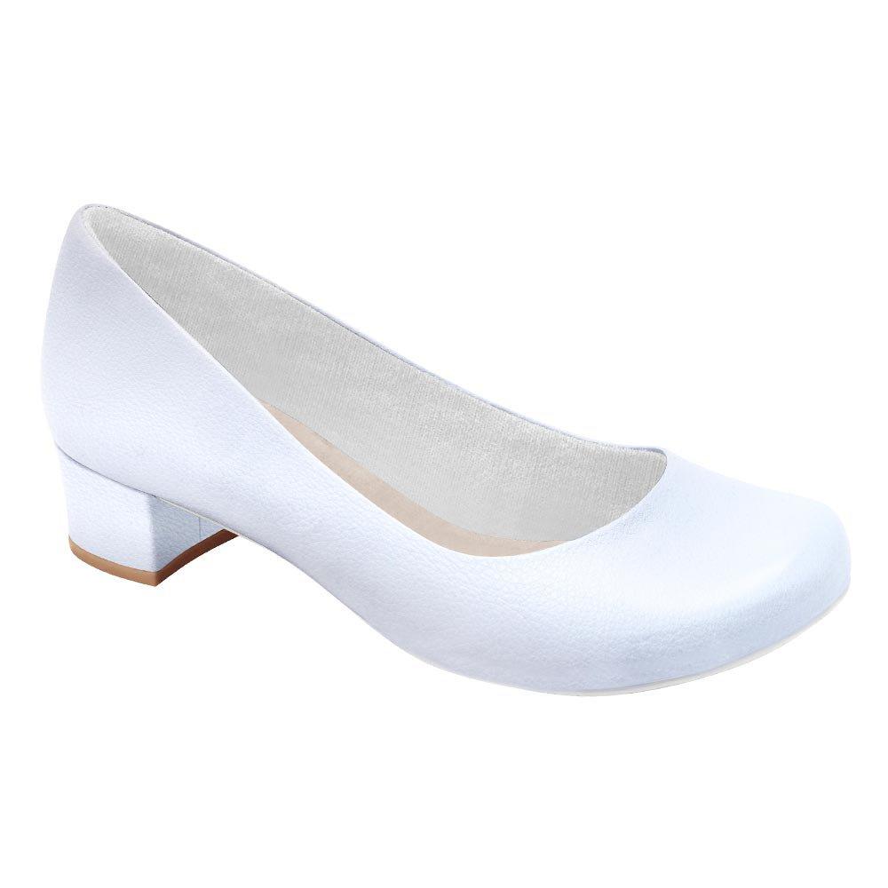5f00045f6 Sapato Feminino Luisa - Branco | Pé Relax Sapatos Confortáveis