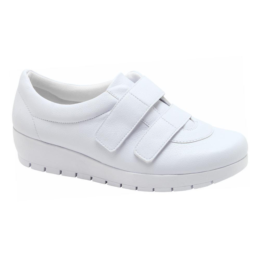 3439d4f71 Tênis Casual Feminino - Branco | Pé Relax Sapatos Confortáveis