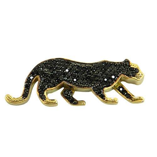Pingente Pantera em Ouro 18K cravejado com Pedras de Espinélio   RDJ JÓIAS e5e5c63146