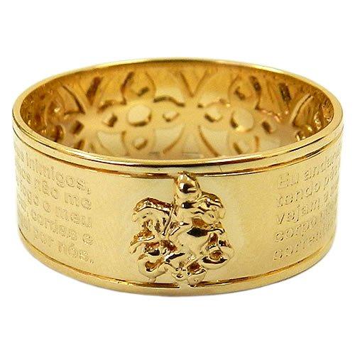 Anel Oração de São Jorge em Ouro 18K   RDJ JÓIAS 171aa12c8c