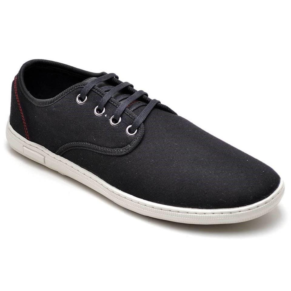 6da6916692 Sapatênis Em Lona Leve confortável preto