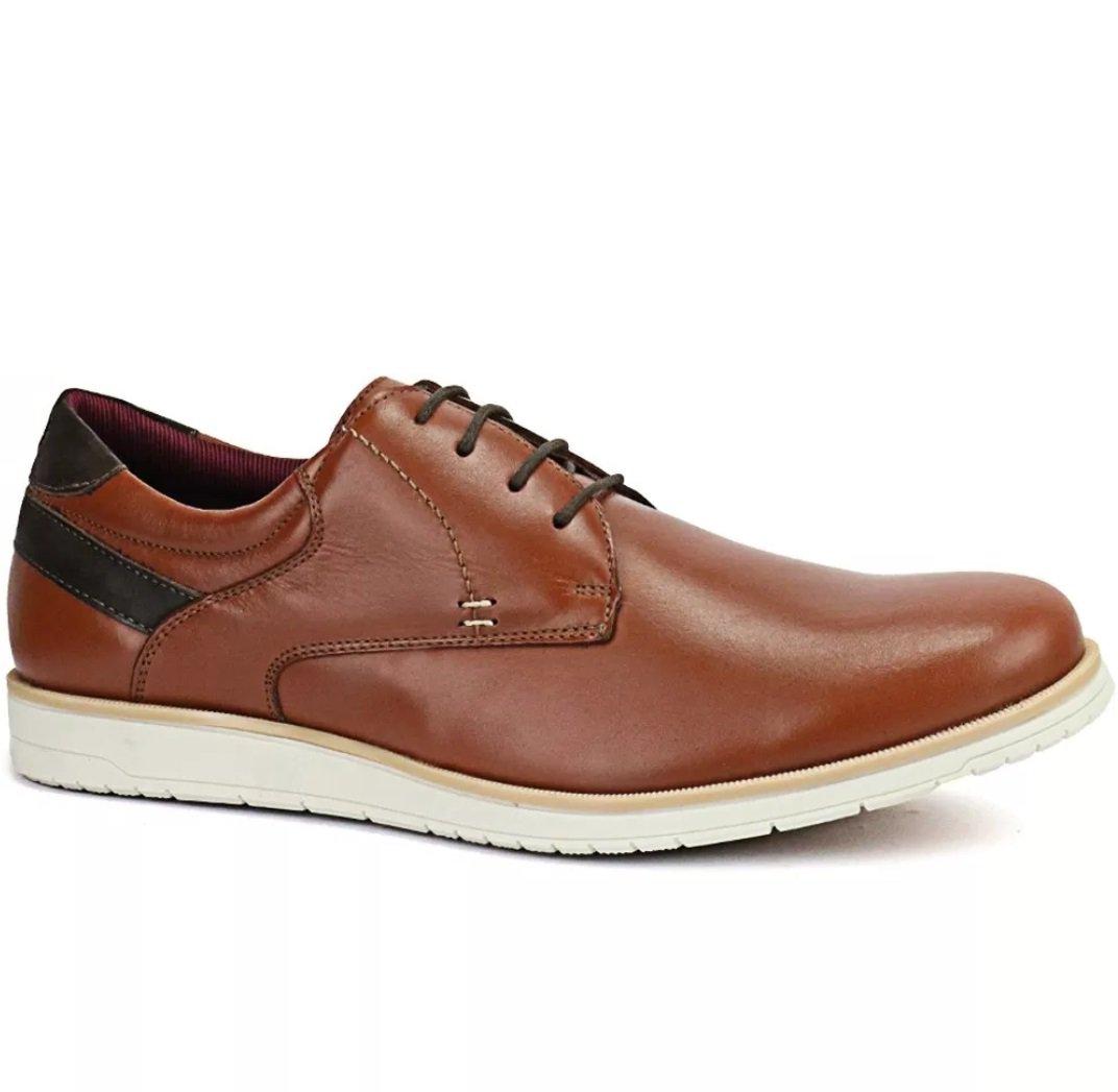 924153c023 Sapato Oxford Casual Masculino em Couro Legitimo