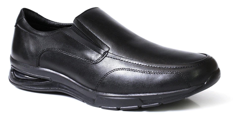 464791ec1 Sapato Social Masculino Confort Solado Gel Com Elástico - Couro Preto