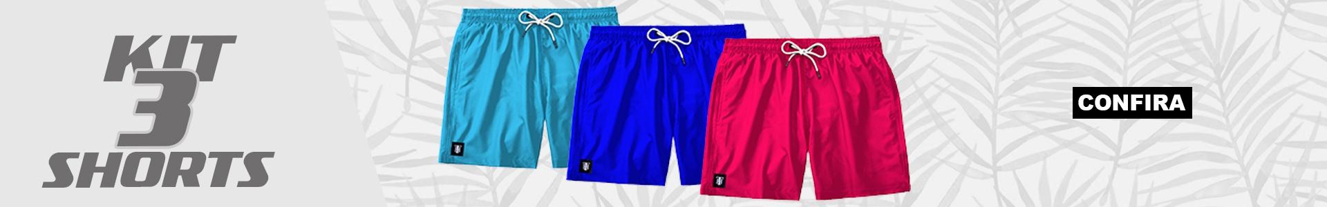 Kit 3 Shorts