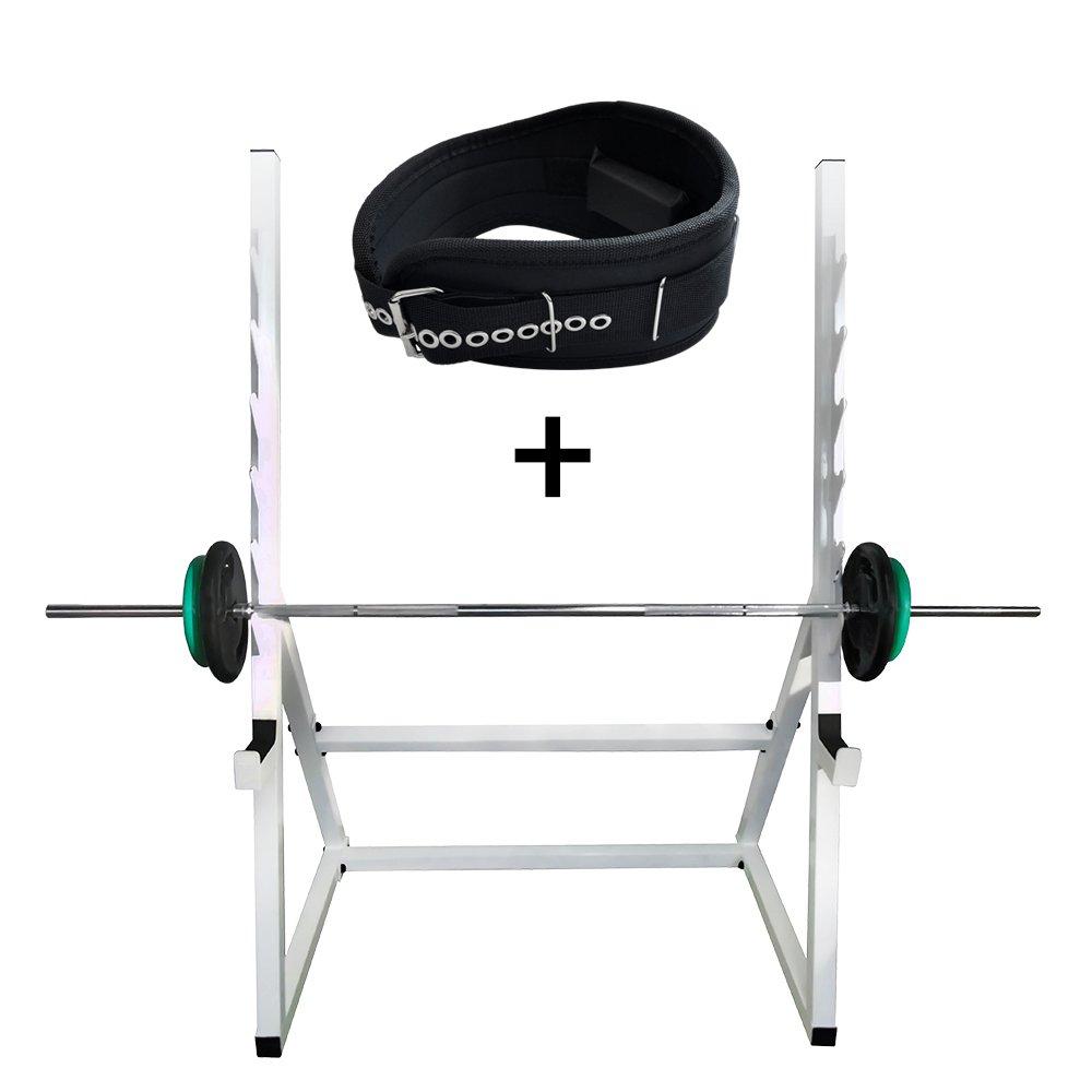 Kit Suporte Agachamento + Cinto para Musculação