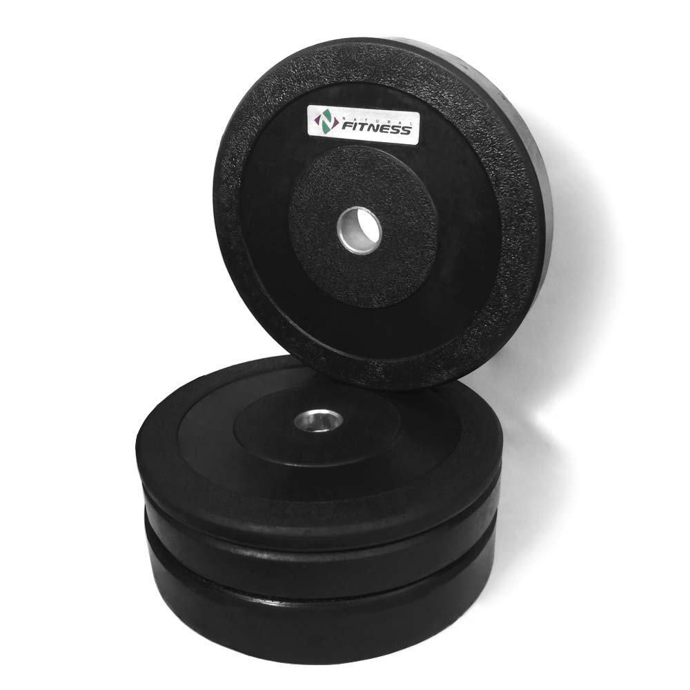 Kit Anilhas Olímpicas Natural Fitness 50kg