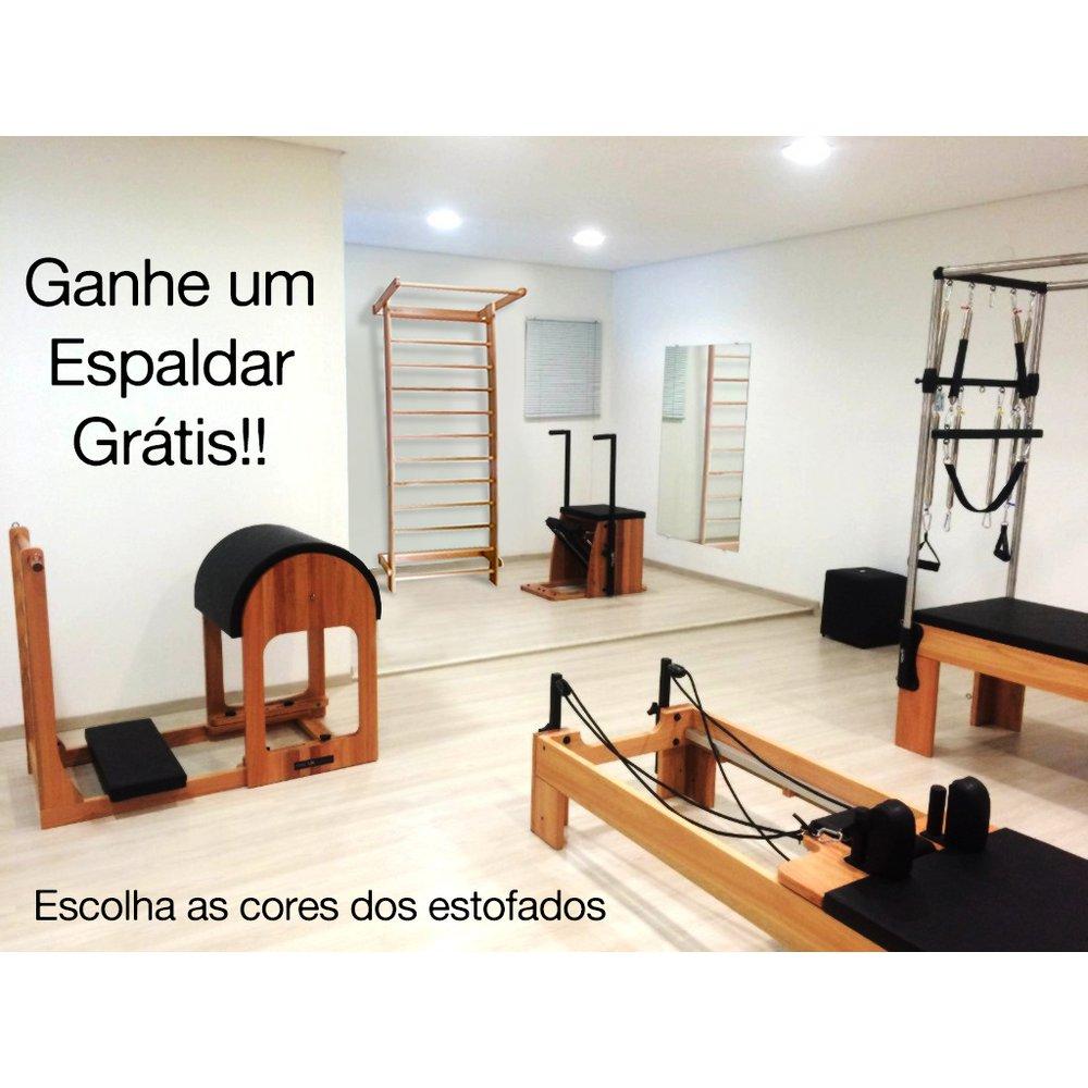 Kit 4 Aparelhos de Pilates Completo + Espaldar Madeira Grátis