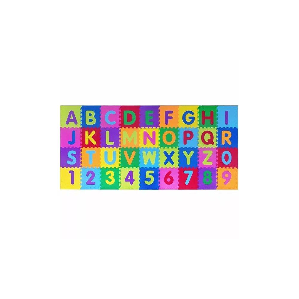 Tapete Tatame Infantil Alfabeto Letras e Números Grandes