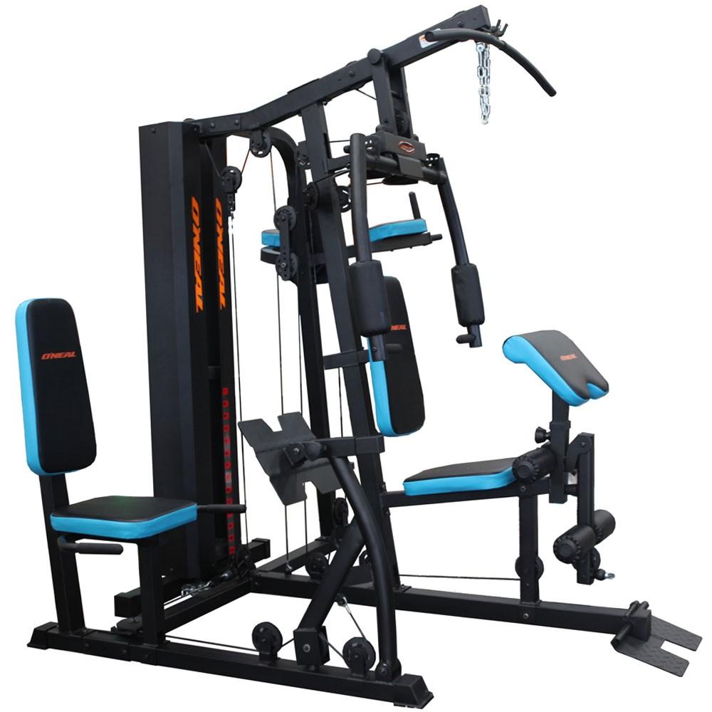 Estação de Musculação com Leg Press Azul