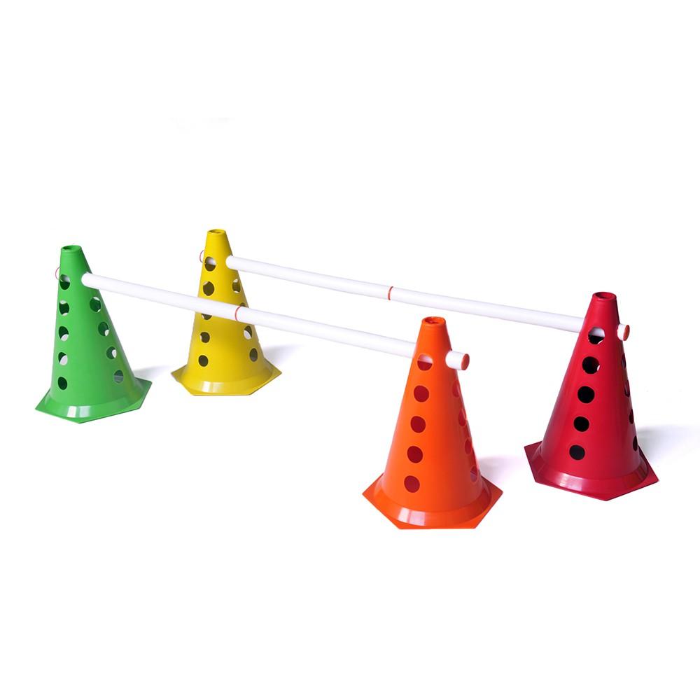Kit 4 Cones de Agilidade + 2 Barreiras de Salto