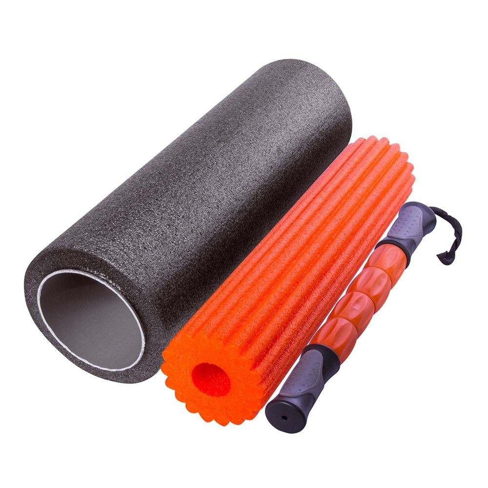 Rolo De Massagem 3 Em 1 Foam Roller Miofascial