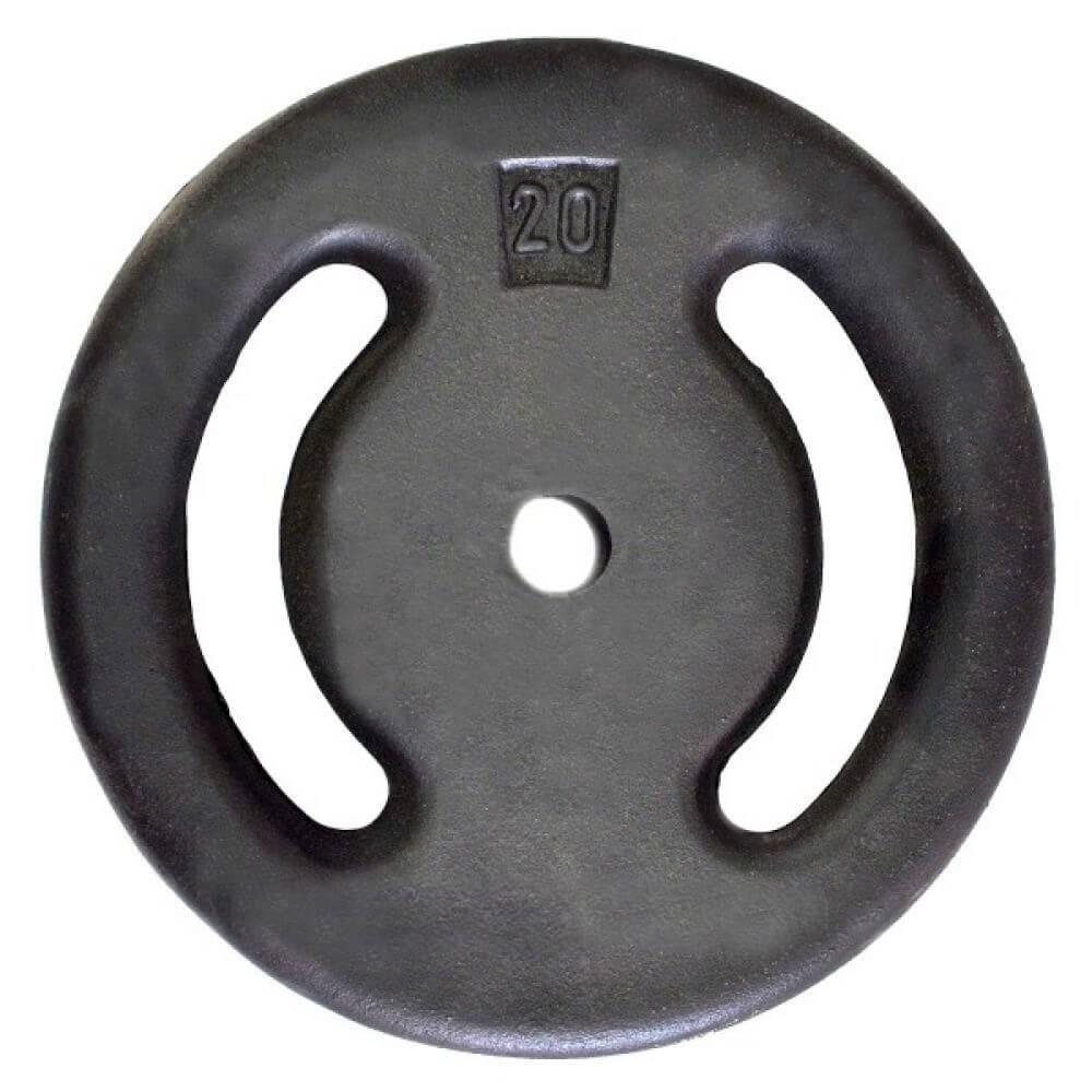 Anilha de Ferro Pintada 20kg Vazada