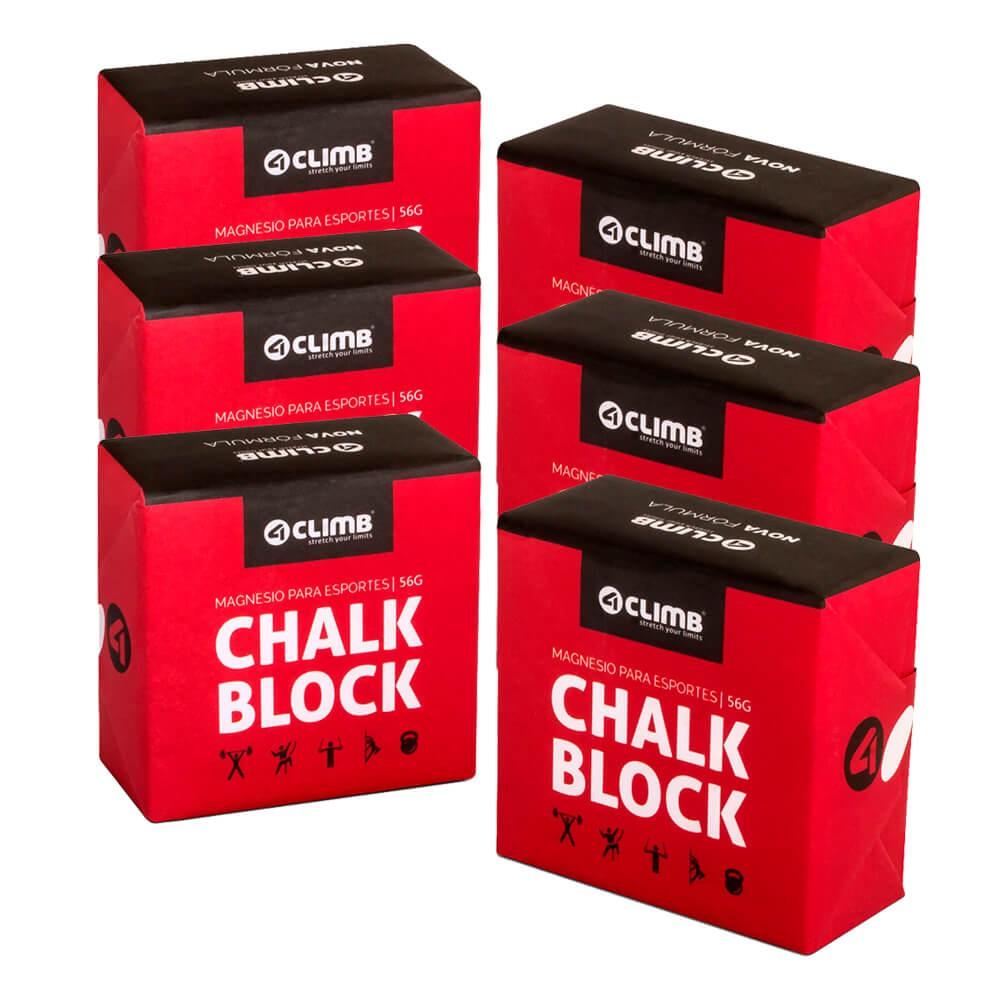 Carbonato De Magnésio Chalk Block 56g 4climb - 6 unidades