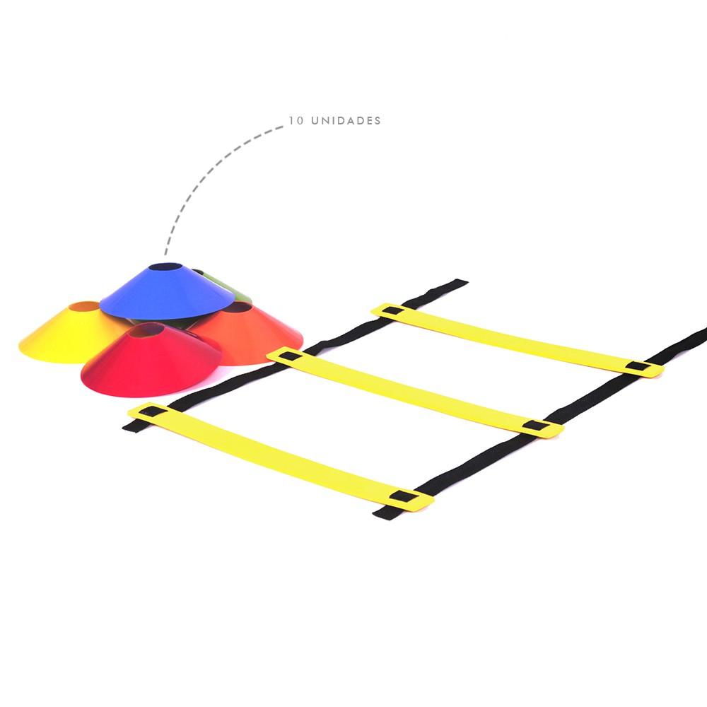 Kit Escada de Agilidade + 10 Chapéu Chinês Colorido