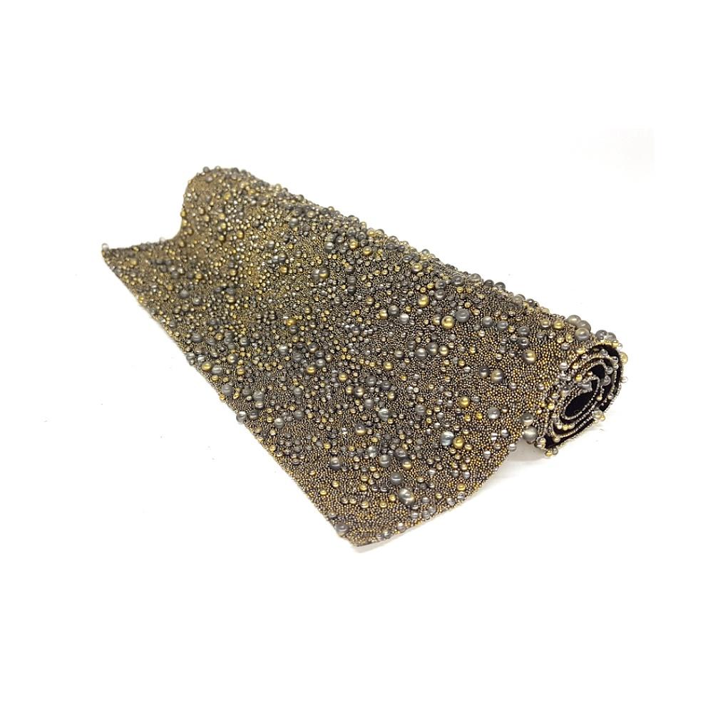 Manta De Strass Bronze - Galaxy. - 16441 - BMSTRASS