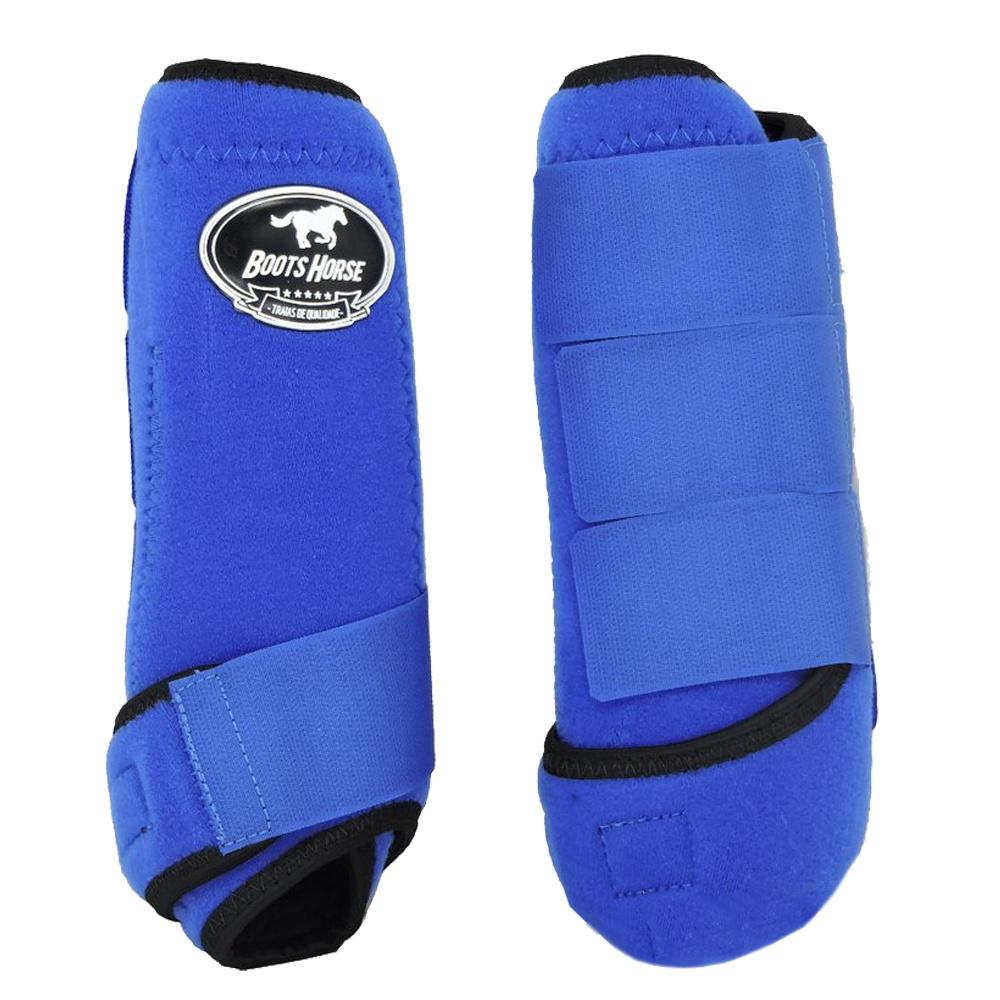 Caneleira Dianteira Azul Royal - Boots Horse