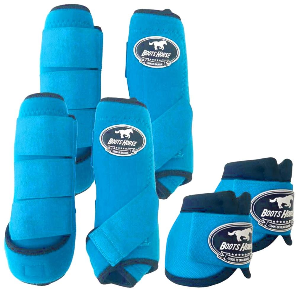 Kit Proteção Azul Turquesa Completo - Boots Horse