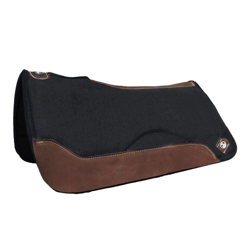 Manta Impacto Pad Boots Horse Feltro Preto Laço