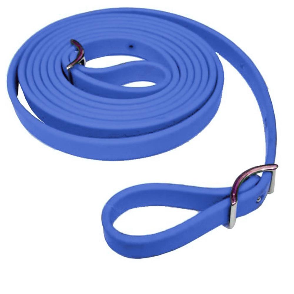Rédea em borracha Azul Royal - Top Equine