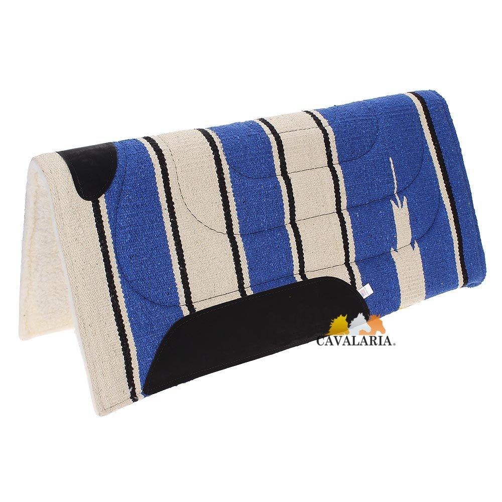 Manta Mustang Azul c/ Bege estampa Navajo c/ Pelúcia