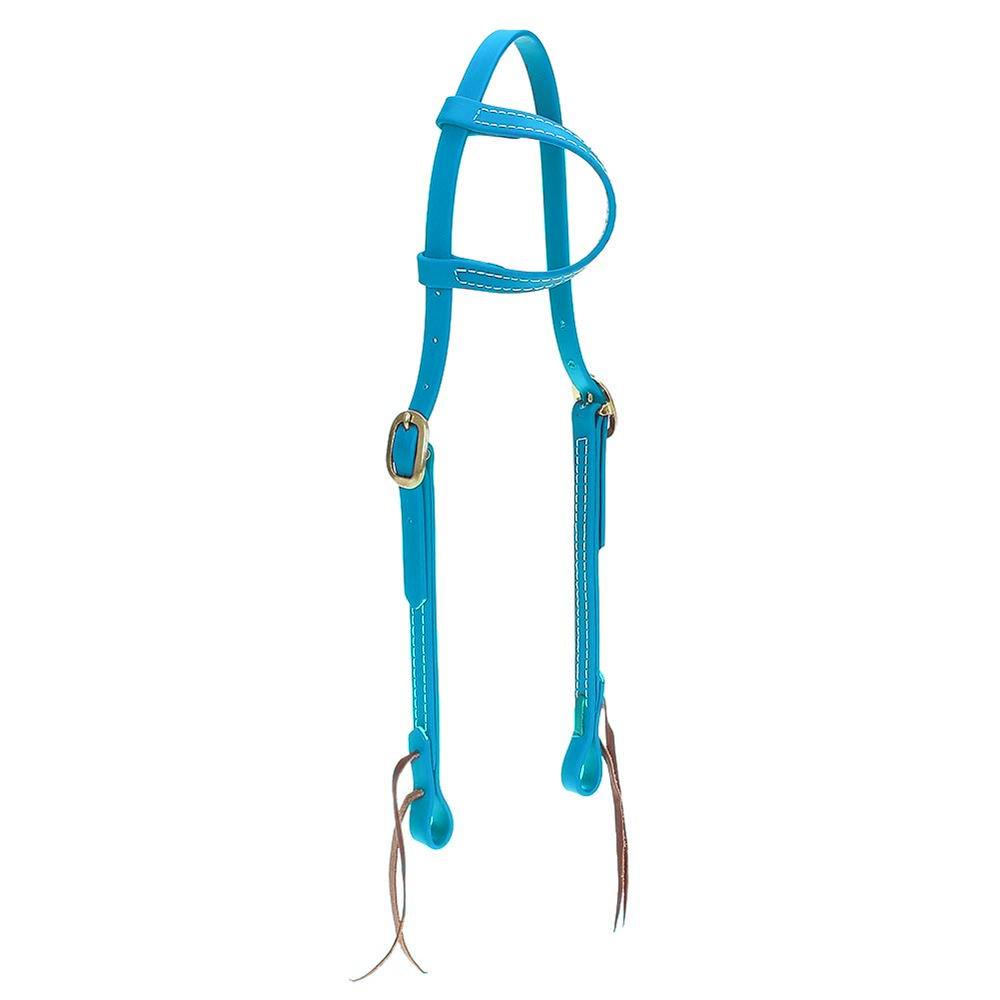 Cabeçada em Borracha 1 orelha Azul Petróleo - Top Equine