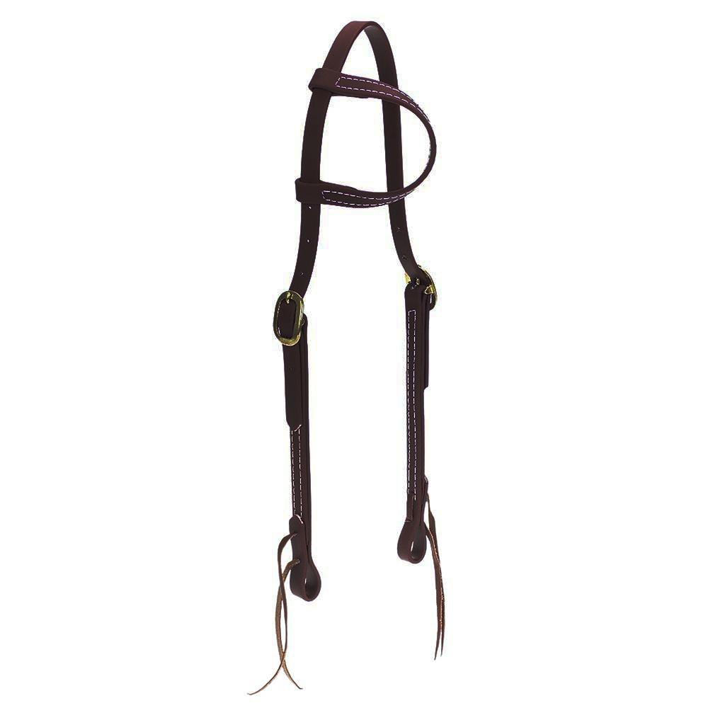 Cabeçada em Borracha 1 orelha Marrom - Top Equine