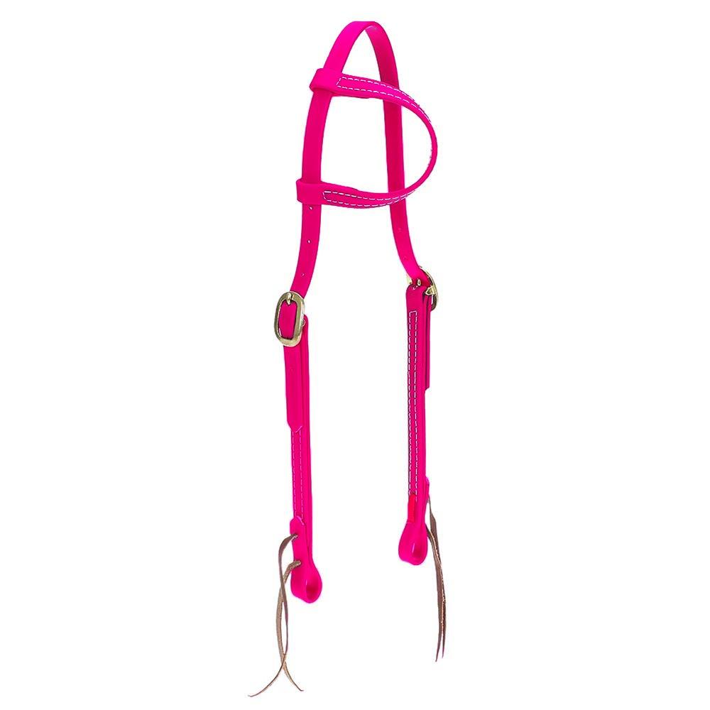 Cabeçada em Borracha 1 orelha Pink - Top Equine