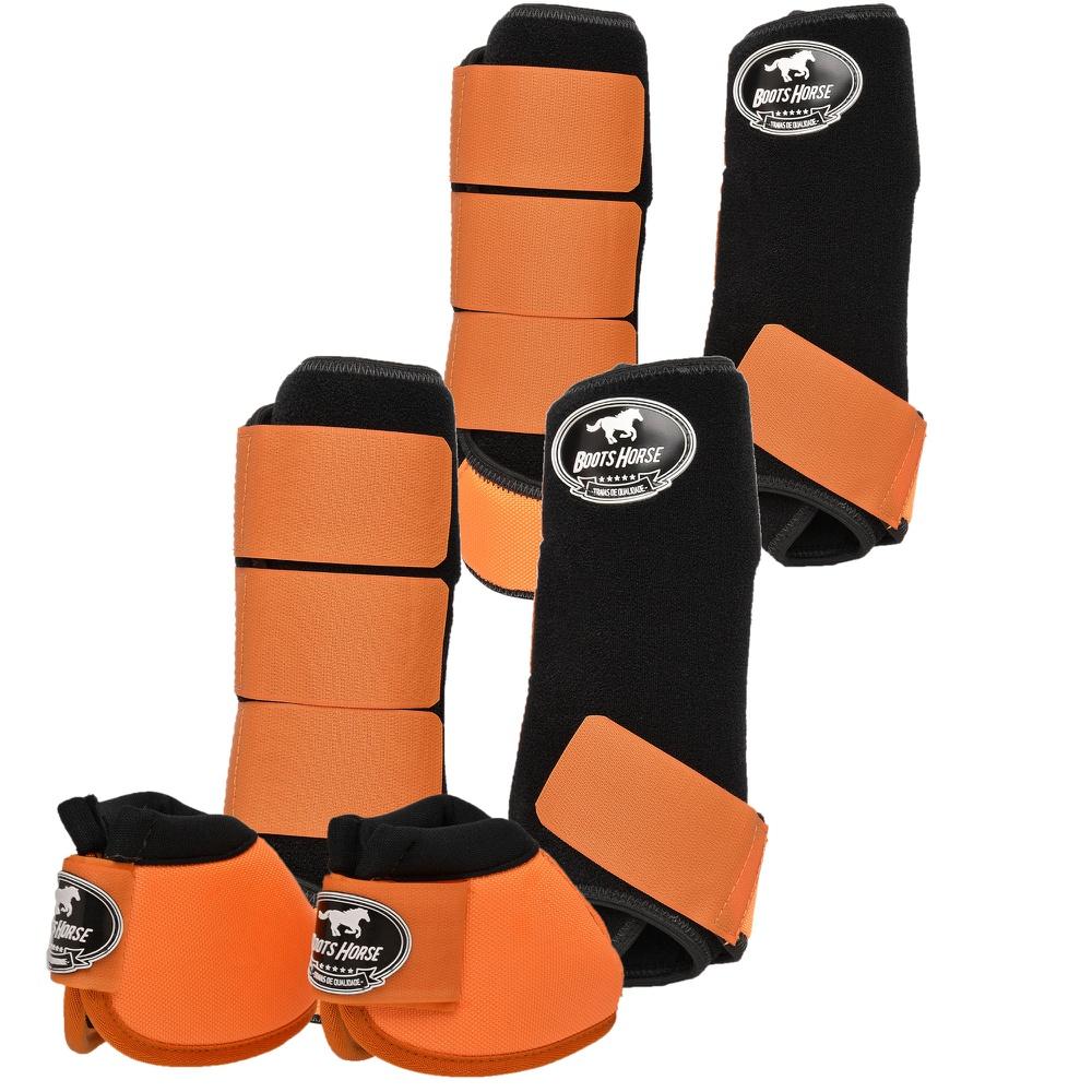 Kit Proteção Laranja Completo - Boots Horse