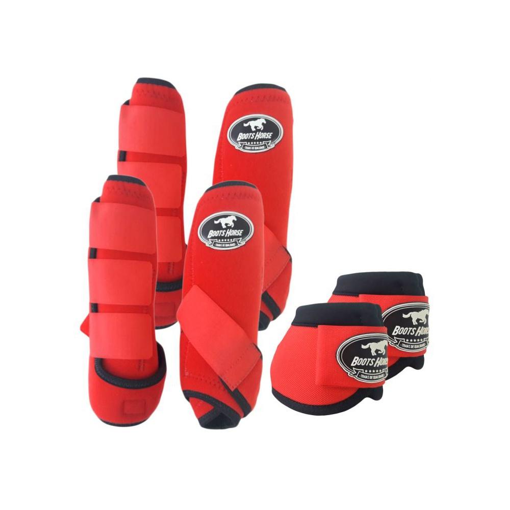 Kit Proteção Vermelho Completo - Boots Horse