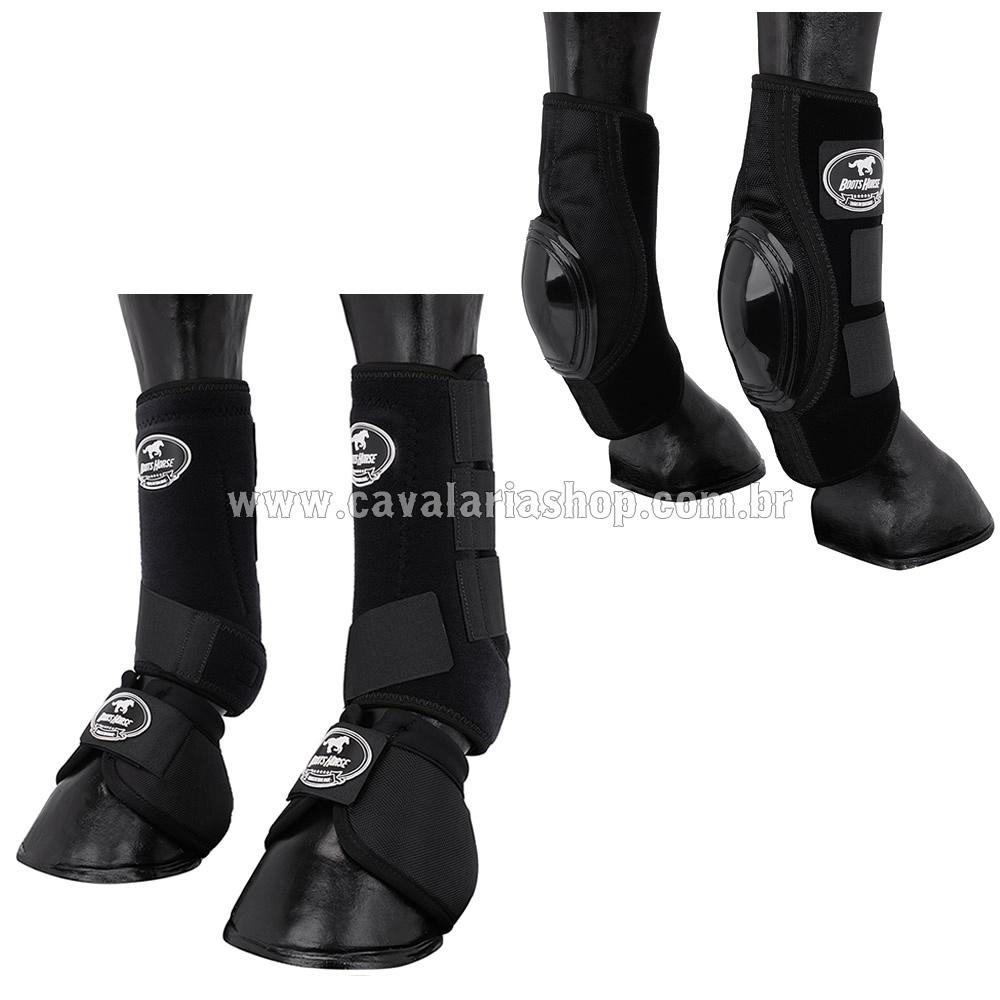 Kit Proteção Preto Completo Skid Boots - Boots Horse