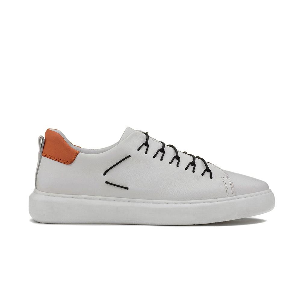 Sneakers Masculino THOR Branco/Tangerina