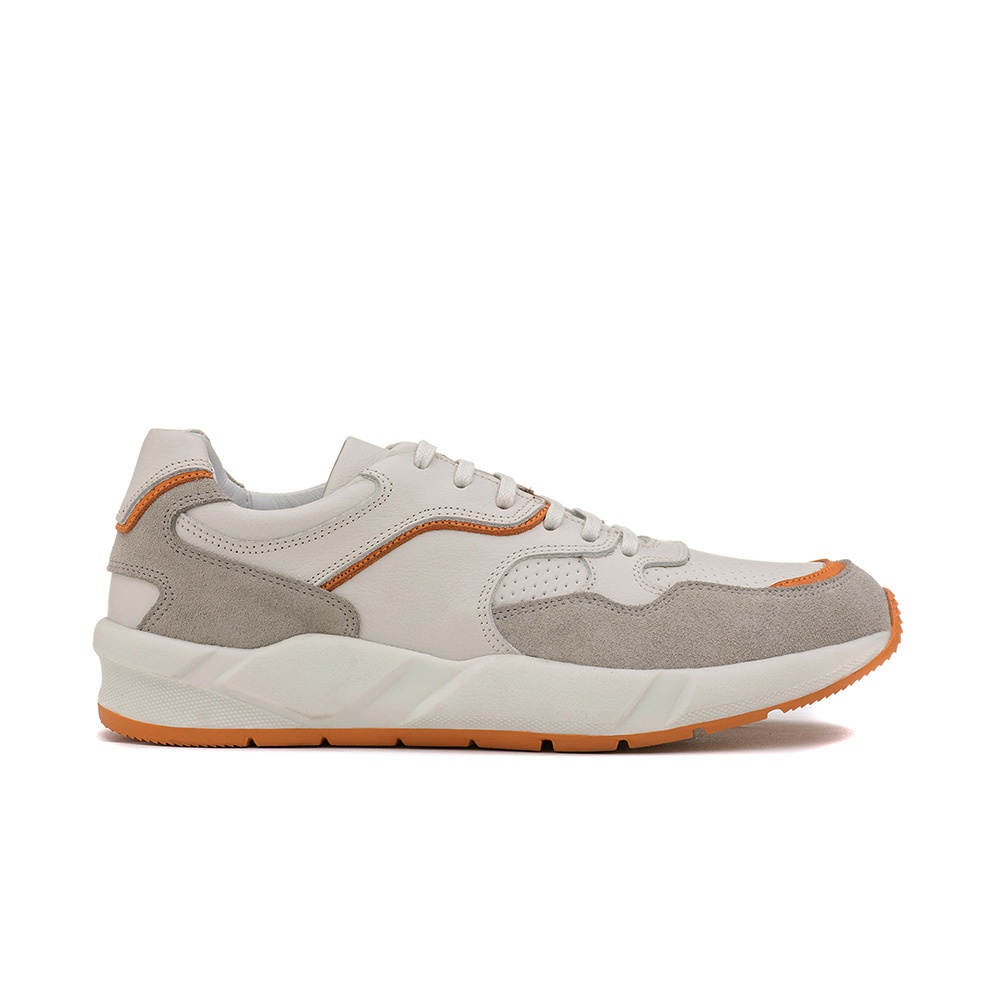 Sneakers Masculino PETRUS Off White/Tangerina