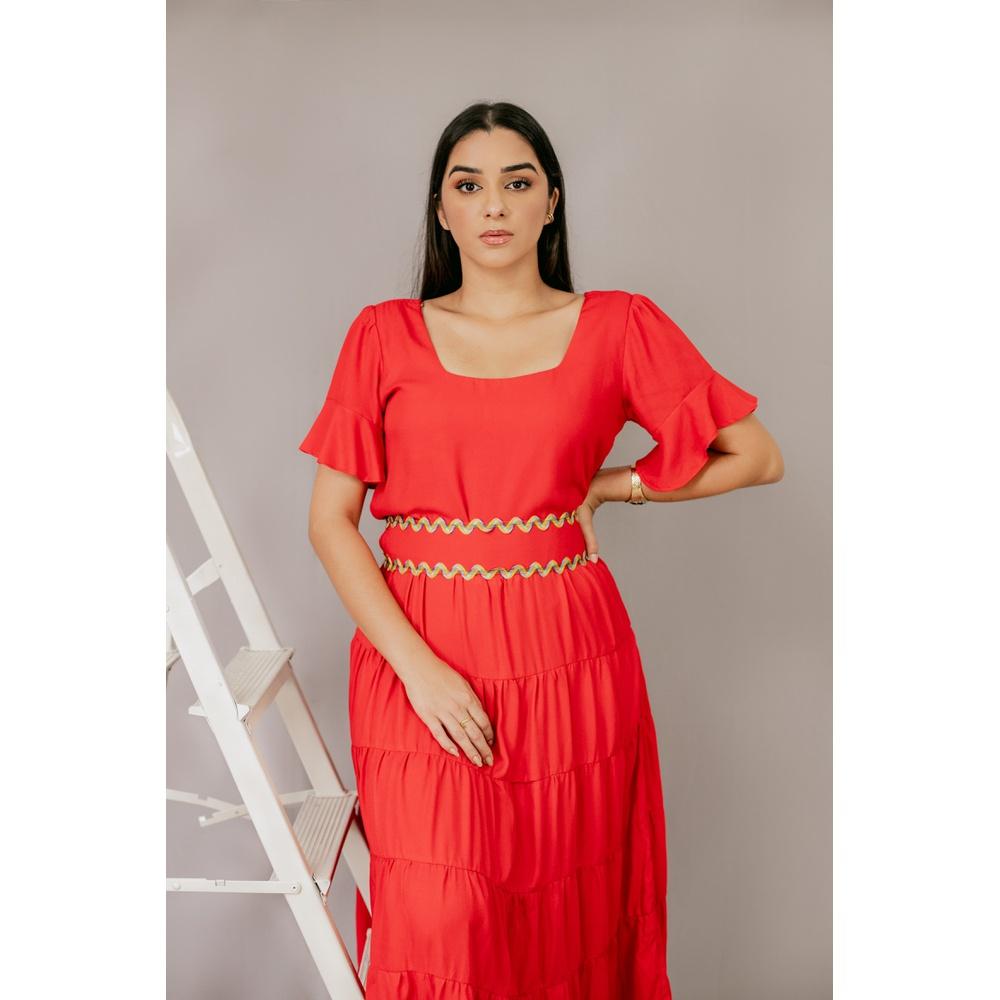 Vestido Celia vermelho