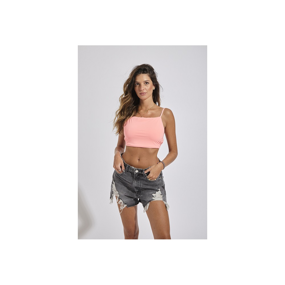 TOP CROPPED CORAL