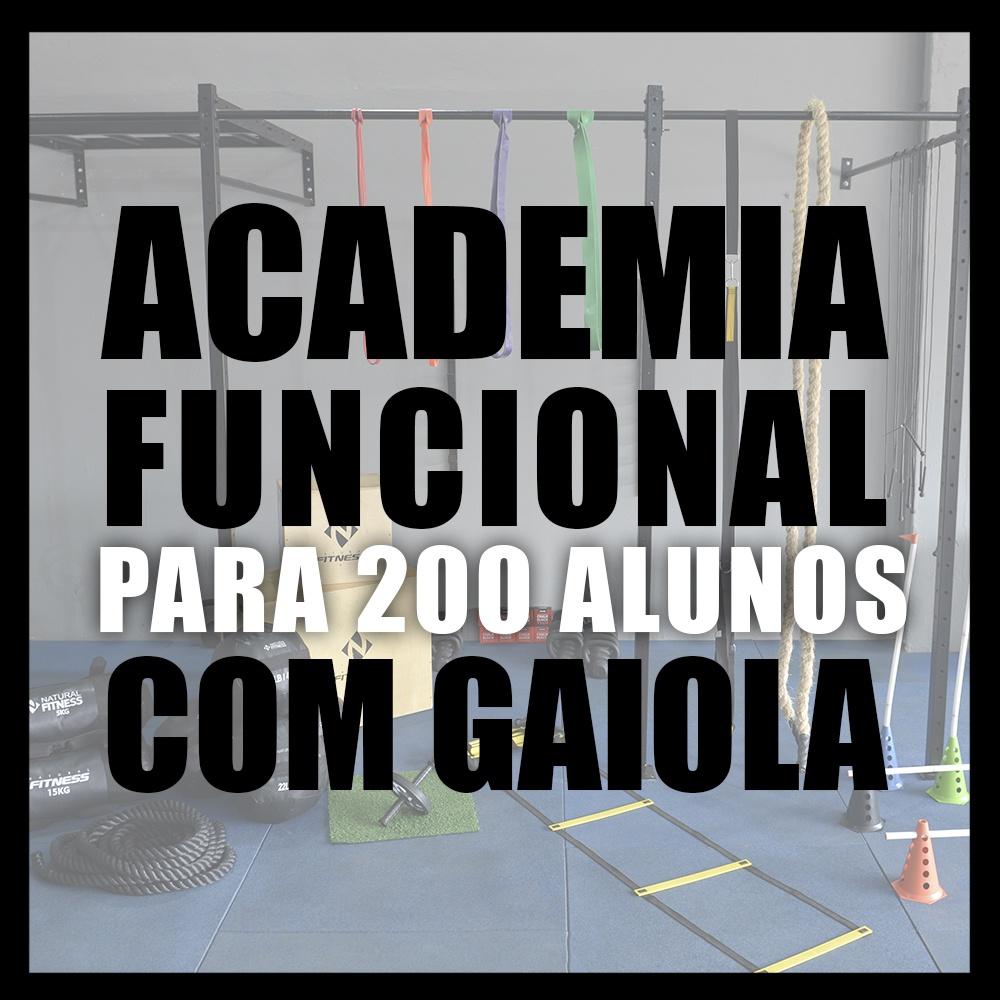 Academia de Treino Funcional Com Gaiola Para 200 Alunos