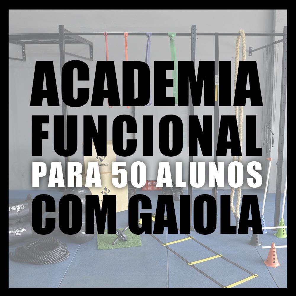 Academia de Treino Funcional Com Gaiola Para 50 Alunos
