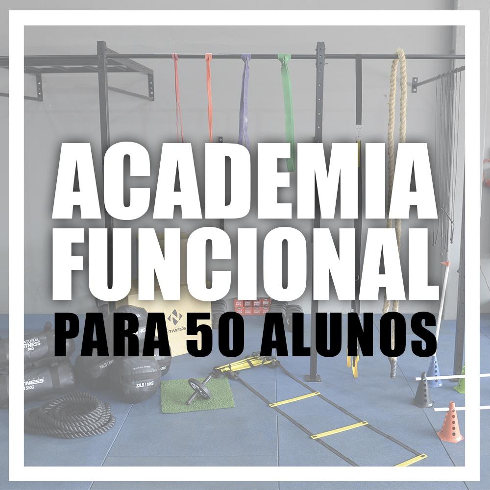 Academia de Treino Funcional Para 50 Alunos/Mês