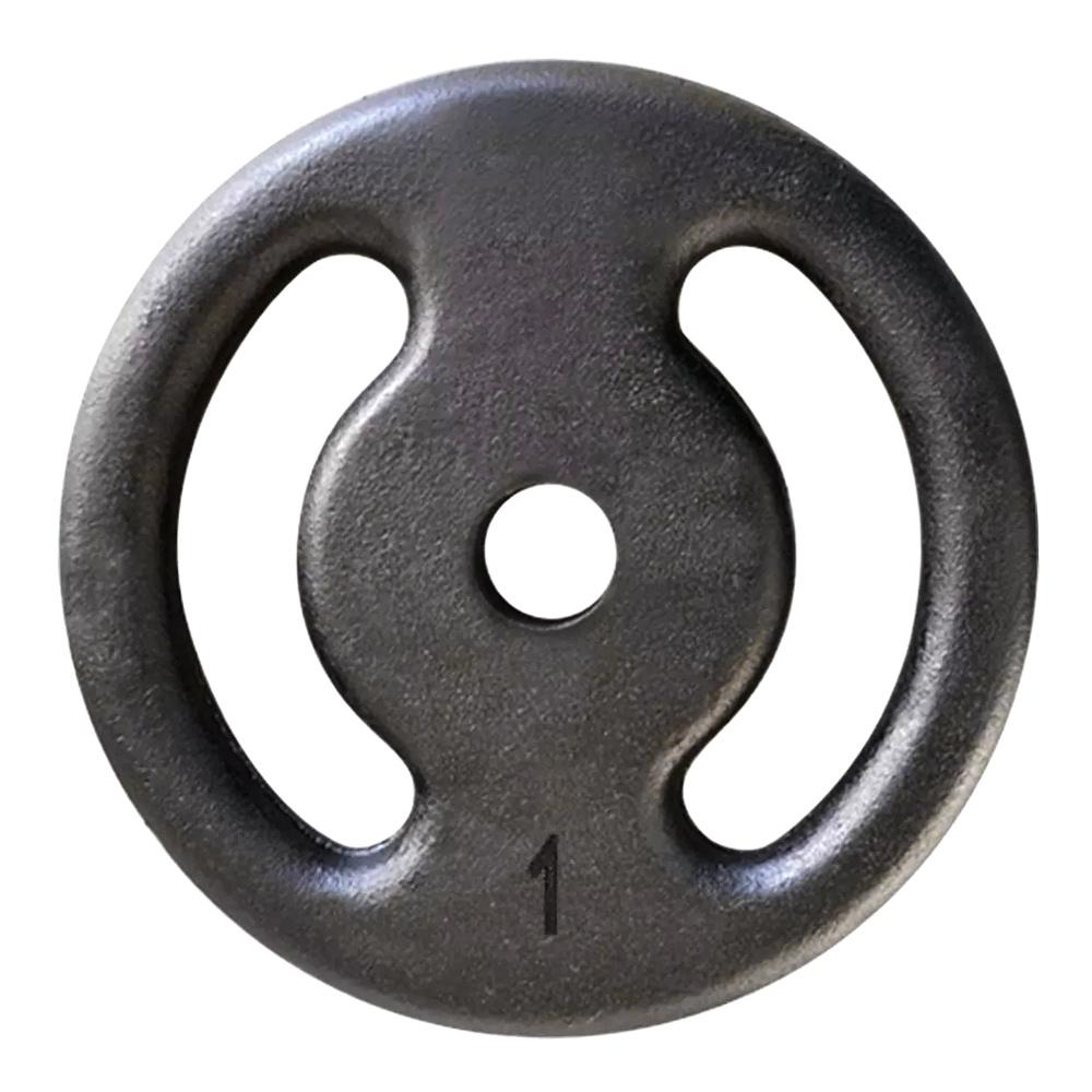 Anilha de Ferro Pintada 1kg Vazada
