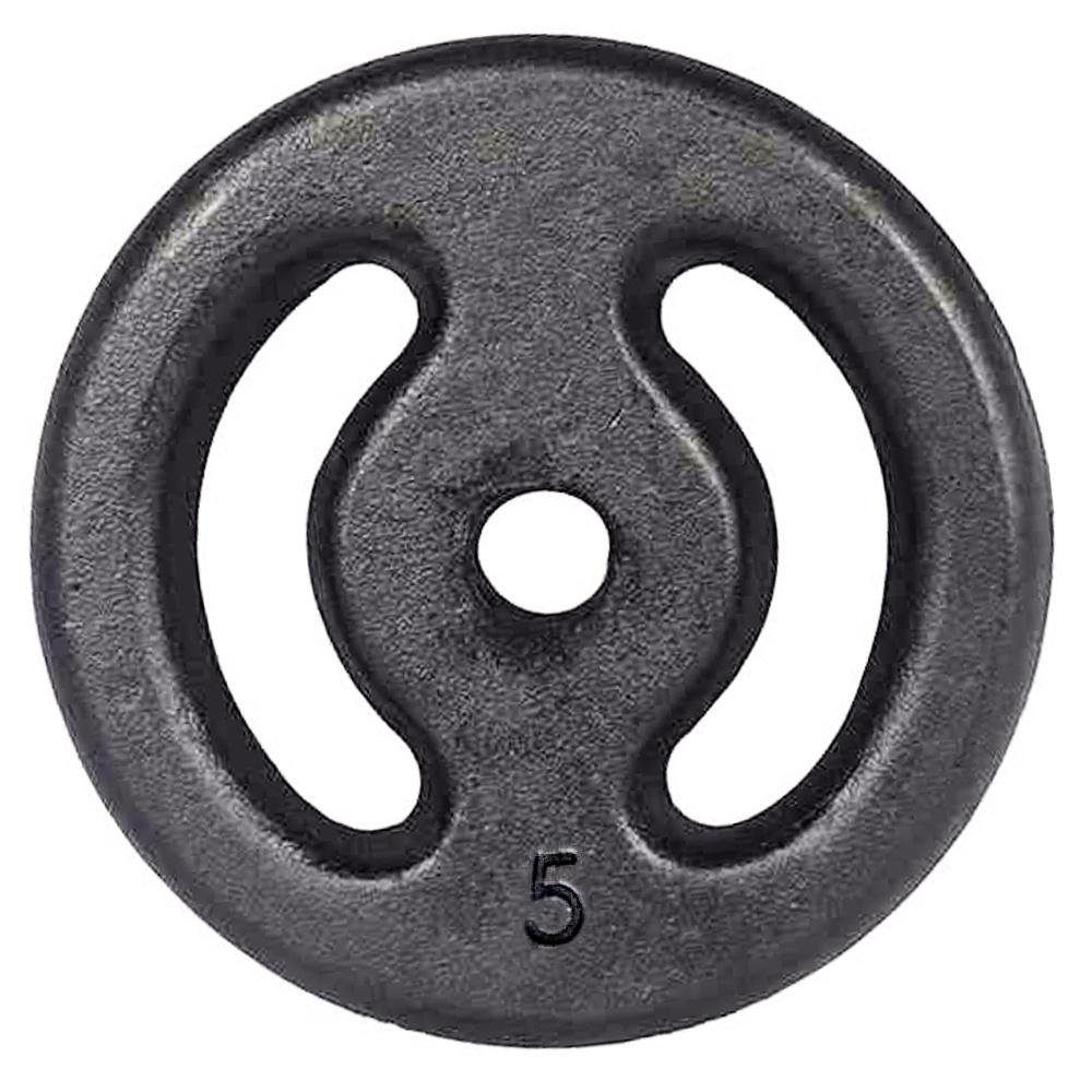 Anilha de Ferro Pintada 5kg Vazada