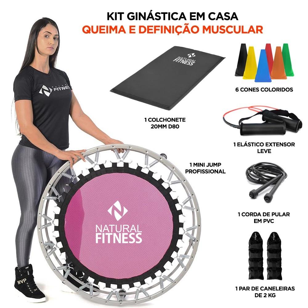 Kit Ginástica em casa - Queima e Definição Muscular